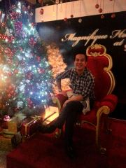 me seated on santa's chair