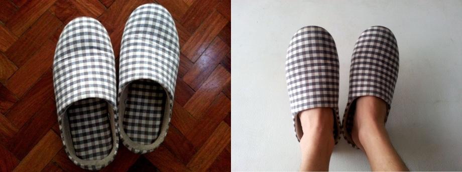 my super comfy Muji indoor slippers