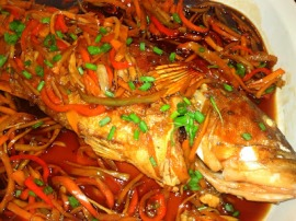 lapulapu in sweet & sour sauce