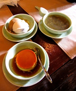 though philippines has better tasting leche flan, it was my first time to taste longan fruit ice cream.  i was raving about it.  it was also my first time to see sweetened mung bean soup served as a dessert in a restaurant.