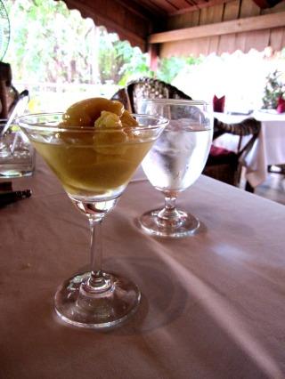 mango ice cream with apple liquor