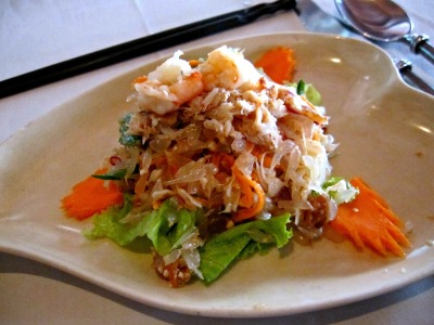 pomelo salad with crab meat