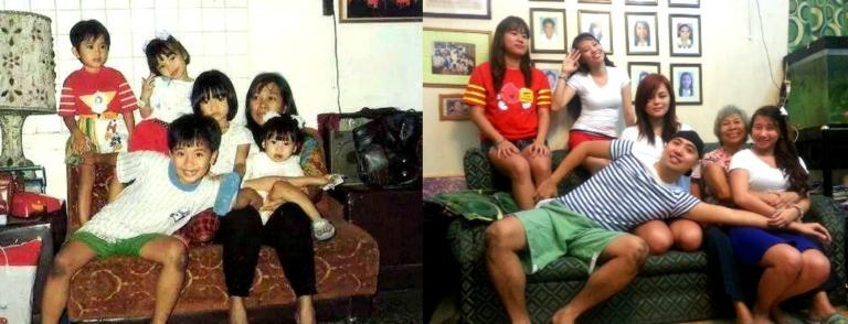 Then & Now: thatch, kim, erika, kate and denden with nengkoy