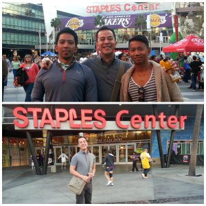 at the staples center with the world travelers...