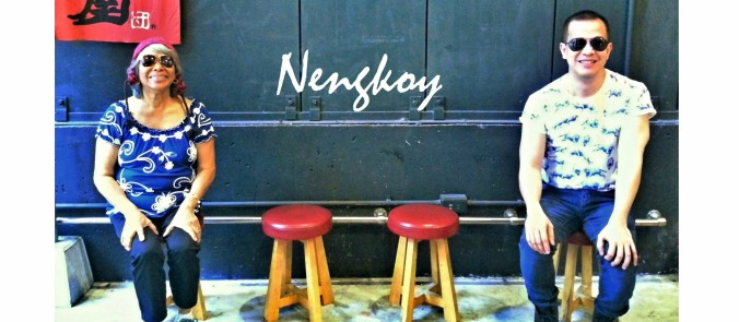 waiting area outside of the restaurant was me and nengkoy's venue for  our blog header's photo