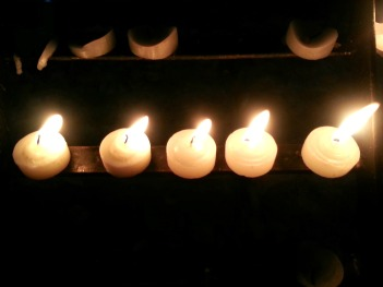 candles i lit in baclaran church in the middle of the night