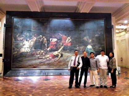 a super huge painting! spoliarium by juan luna