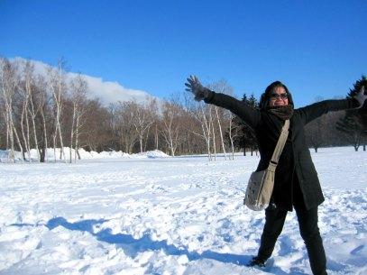 my dear sister on a fine powdery snow...