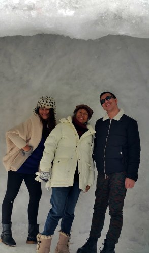 enjoying the cold with nengkoy and erika