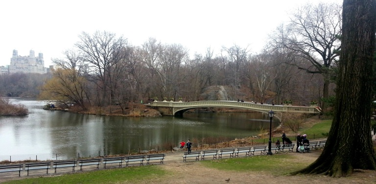 bow bridge at central park, a popular and common film setting
