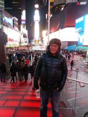 jhong at times square, my preferred venue for my pork adobo TED talk