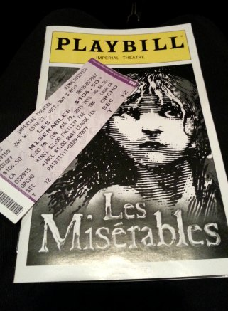got my playbill and the ticket...
