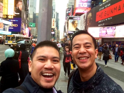 saw kinky boots with super friend ron, a new yorker and broadway musical enthusiast!