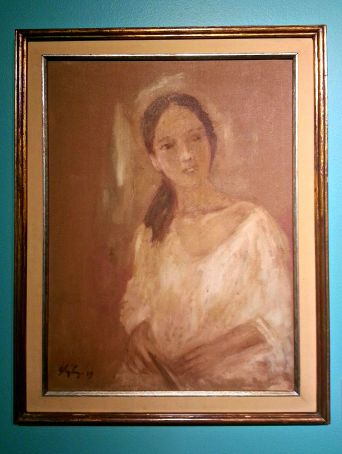 portrait of a lady, 1989 (oil on canvass)