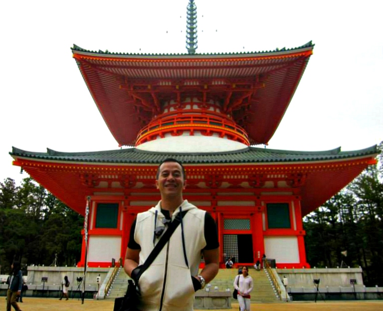 at my back is the massive kongobuji temple