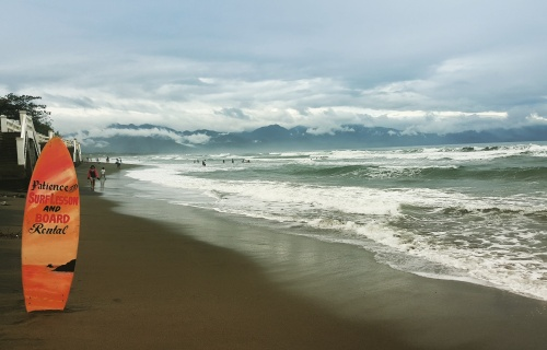 the surf is up at Sabang Beach!