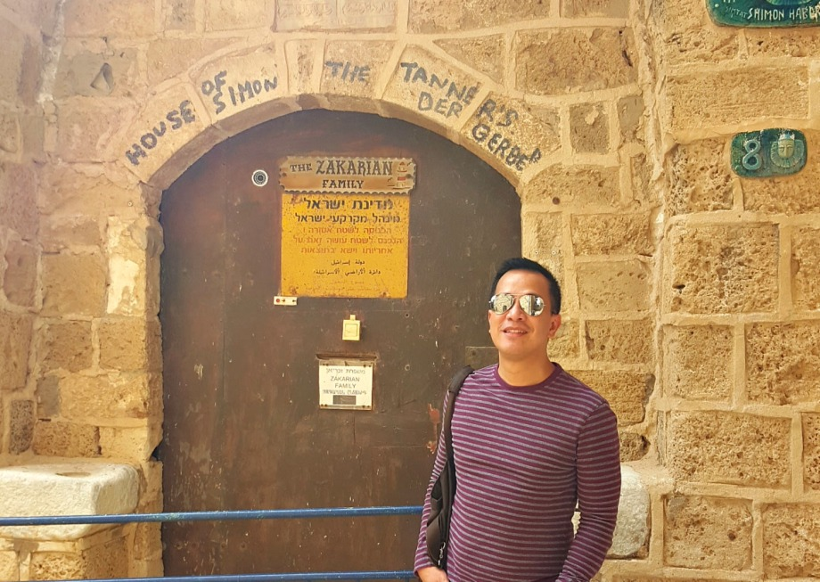 the massive church was aptly called st peter's church because this is where st peter lived for a while (inside simon the tanner's house) and had a vision/dream which started the christian  catholic religion.  old jaffa is also where st peter raised tabitha from the dead