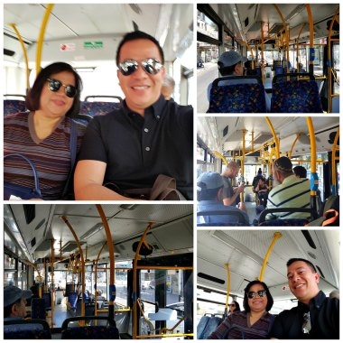 having fun inside a tel aviv bus!