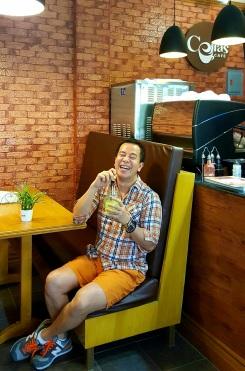 happy tummy! (inside Celias Cafe)
